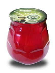 Bolsius Professional Twilight Candle with red coloured glass bulb - 70 hour candle